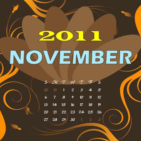 Illustration of 2011 Calendar Stock Illustration - 8128829