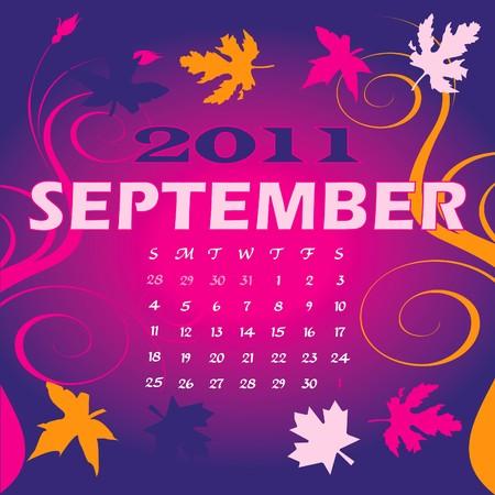 calandar: Illustration of 2011 Calendar Stock Photo