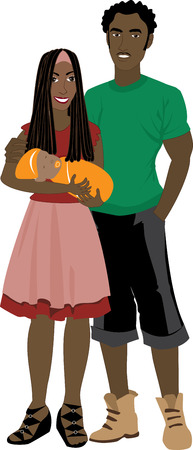 Vector illustration of Family number 6 Isolated. Illustration