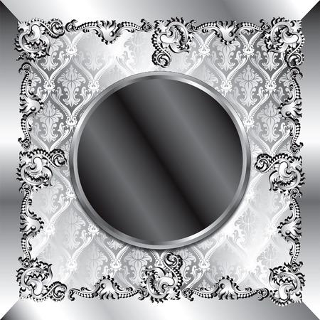 platin: Vektor-Illustration der fancy Hintergrund Vorlage. K�nnen f�r Hochzeiten, feiern und mehr verwendet werden. Template-Design, k�nnen Text oder Foto einf�gen.