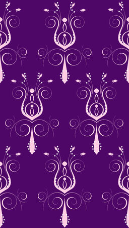 Illustration of seamless background. Purple Pink Abstract Flower Vector