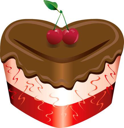 Vector illustratie van een Valentine snoepjes. Stock Illustratie