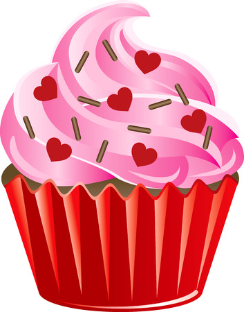 chocolate sprinkles: Vector Illustration of a Valentine Sweets.