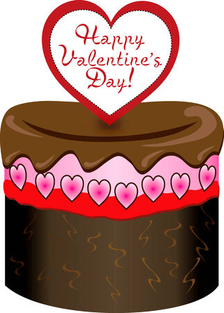 Vector Illustration of six different Valentine Sweets. Vector