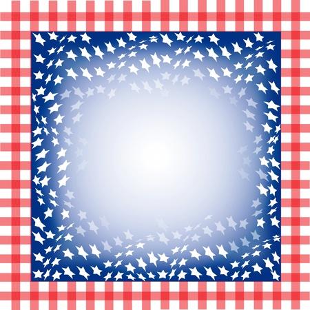 Illustration pour le 4ème de l'indépendance Juillet. Carré à fond. Banque d'images - 9819584