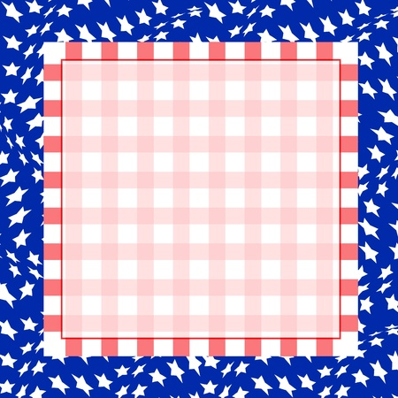 Illustration for the 4th of July Independence. Square background. Vector