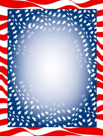 Illustration for the 4th of July Independence background. Ilustracja