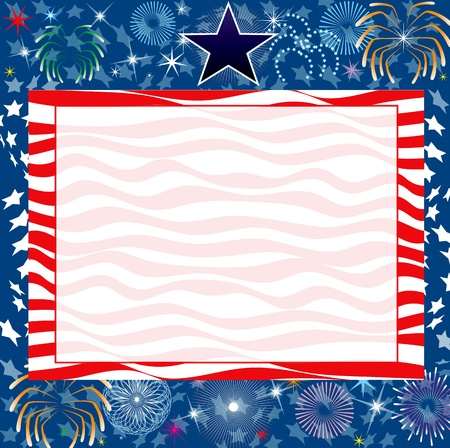 Illustration for the 4th of July Independence or New Years background. Vettoriali
