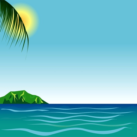Illustration of Beach Background  Illustration