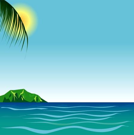 Illustration of Beach Background  Vector