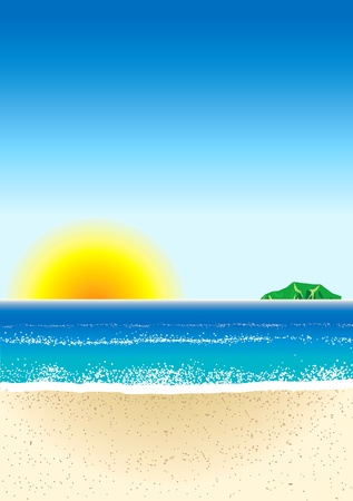 Illustration of Beach Background Stock fotó - 10050598