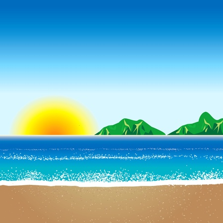 illustration of Beach Background 2 Illustration