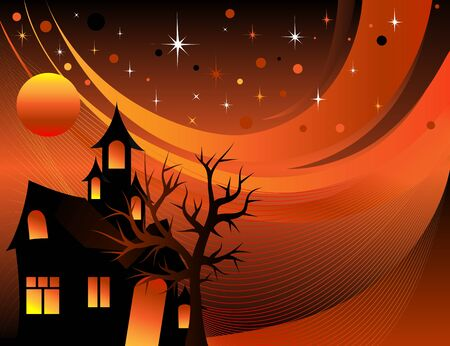 Samenvatting van een Halloween Achtergrond van de Boom.