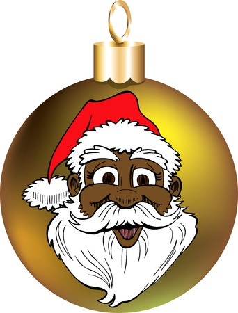 Vector Illustration of Santa Face Ornament.  Stock Vector - 11579602