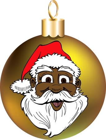 Vector Illustration of Santa Face Ornament. Stock Vector - 11579602
