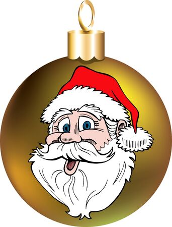 santa clause: Vector Illustration of Santa Face Ornament.