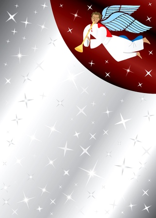 Vector Illustration of Angel Background with stars. There is space for text or image. Vettoriali
