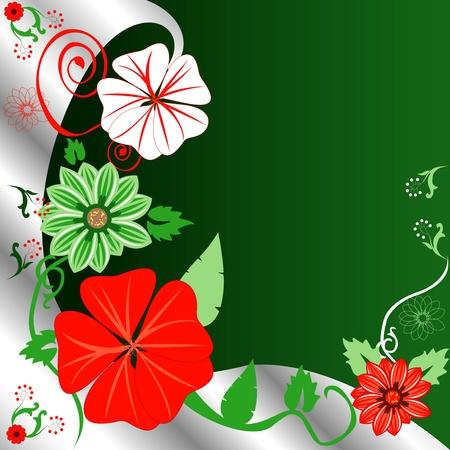 Ilustraciones Vectoriales de una plantilla de fondo floral de Navidad. Foto de archivo - 11579607