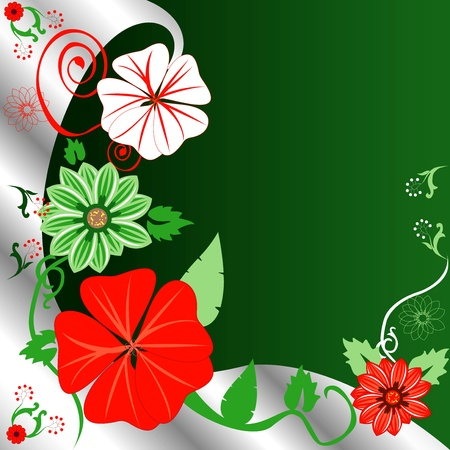 Vector Illustration of a Christmas background Floral template. Vector