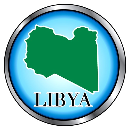 Vector Illustration for Libya, Round Button. Vector