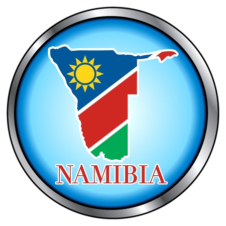namibia: Vector Illustration for Namibia, Round Button.