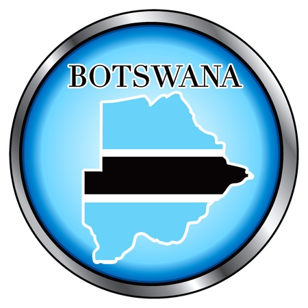 botswanan: Vector Illustration for Botswana, Round Button. Illustration