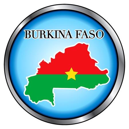 burkina faso: Vector Illustration for Burkina Faso, Round Button.