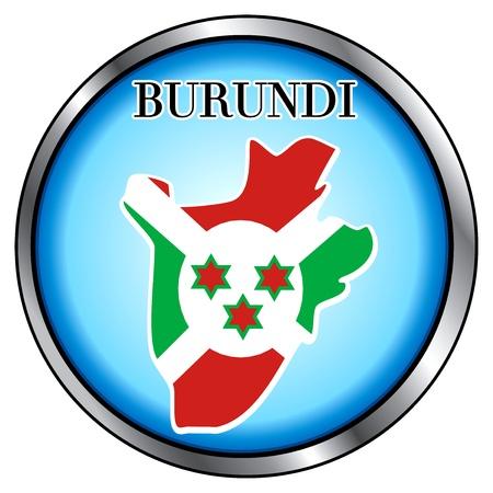 Vector Illustration for Burundi, Round Button. Vector