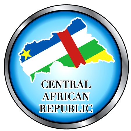 central african republic: Vector Illustration for Central African Republic, Round Button.