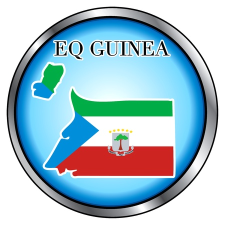 Vector Illustration for the country of Eq. Guinea Round Button. Vector