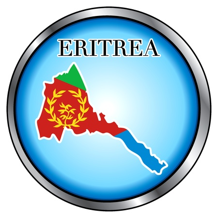 Vector Illustration for the country of Eritrea Round Button. Vector