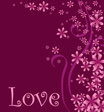 Vector illustration of a love or Valentines background.  Vector