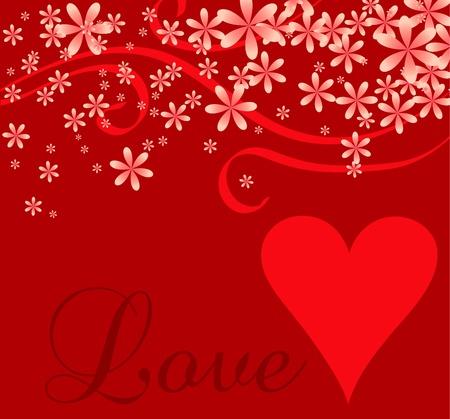 romance: Vector illustration of a love or Valentines background. Illustration