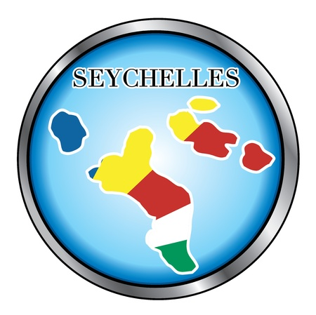 seychelles: Vector Illustration for the country of Seychelles Round Button.