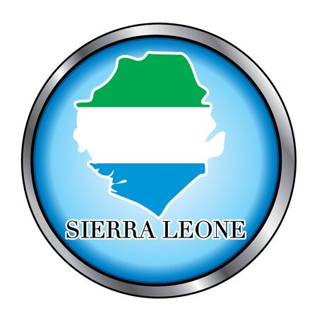 Vector Illustration for the country of Sierra Leone Round Button. Vector