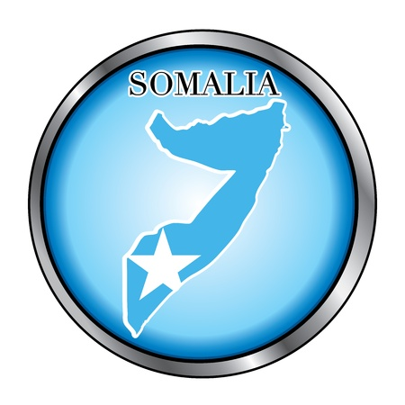 somalian: Vector Illustration for the country of Somalia Round Button.