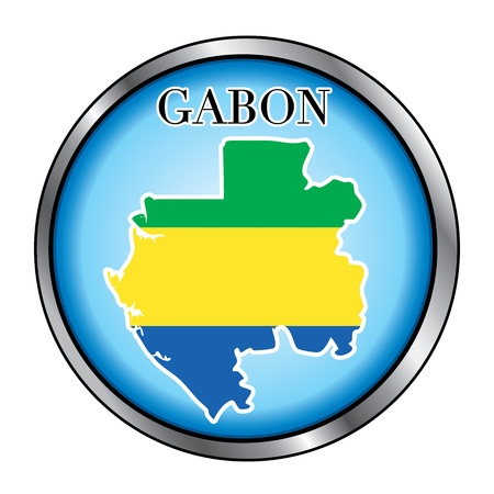 Vector Illustration for the country of Gabon Round Button. Stock Vector - 12025989
