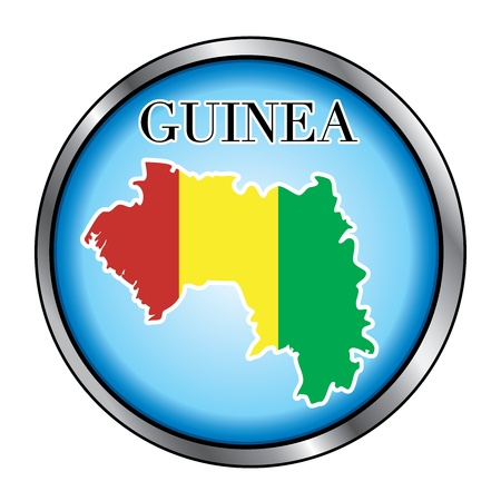 Vector Illustration for the country of Guinea Round Button. Vector