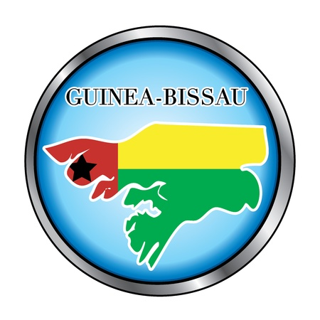 Vector Illustration for the country of Guinea Bissau Round Button. Vector