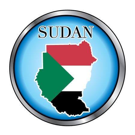 sudan: Vector Illustration for the country of Sudan Round Button.