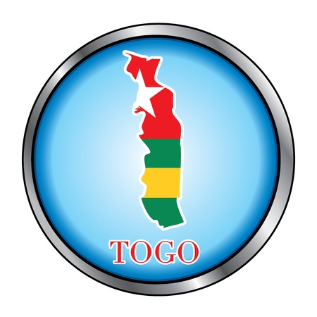 togo: Vector Illustration for the country of Togo Round Button.
