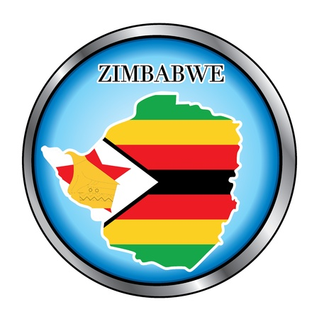 Vector Illustration for the country of Zimbabwe Round Button. Vector