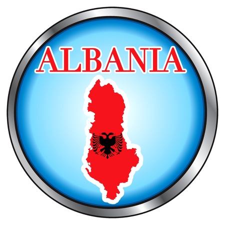 丸いボタンのオーストリアのためのベクトル図