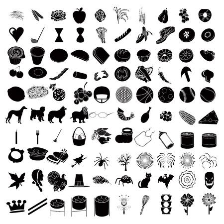 Vector Illustrtions of 100 Icon Set 3 Vettoriali