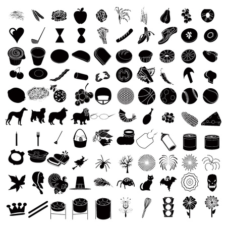 rammelaar: Vector Illustrtions van 100 Icon Set 3 Stock Illustratie
