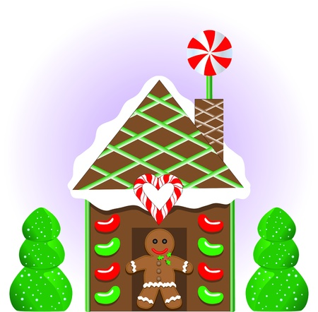 Gingerbread house 1 Vector