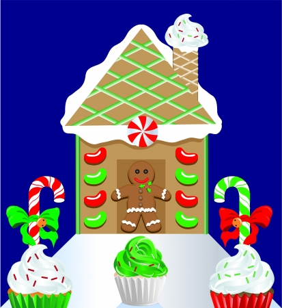 Gingerbread house 2 Vector