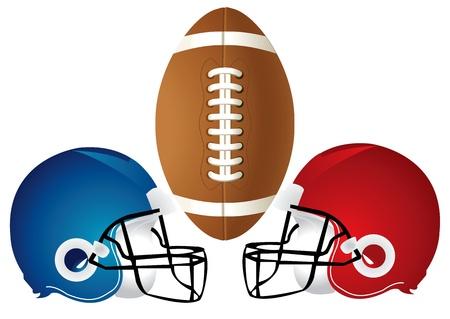 Illustration d'une conception du football avec un casque. Banque d'images - 17202623