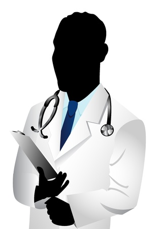 Vector of Caucasian man doctor. See others in this series. Vector