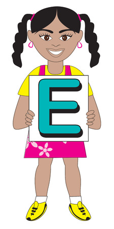 biracial: Alphabet Kids available as a Vector or Raster Illustration Illustration
